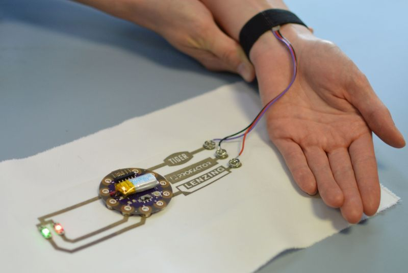 PROFACTOR entwickelt leitfähige Tinte für Textilien der Zukunft